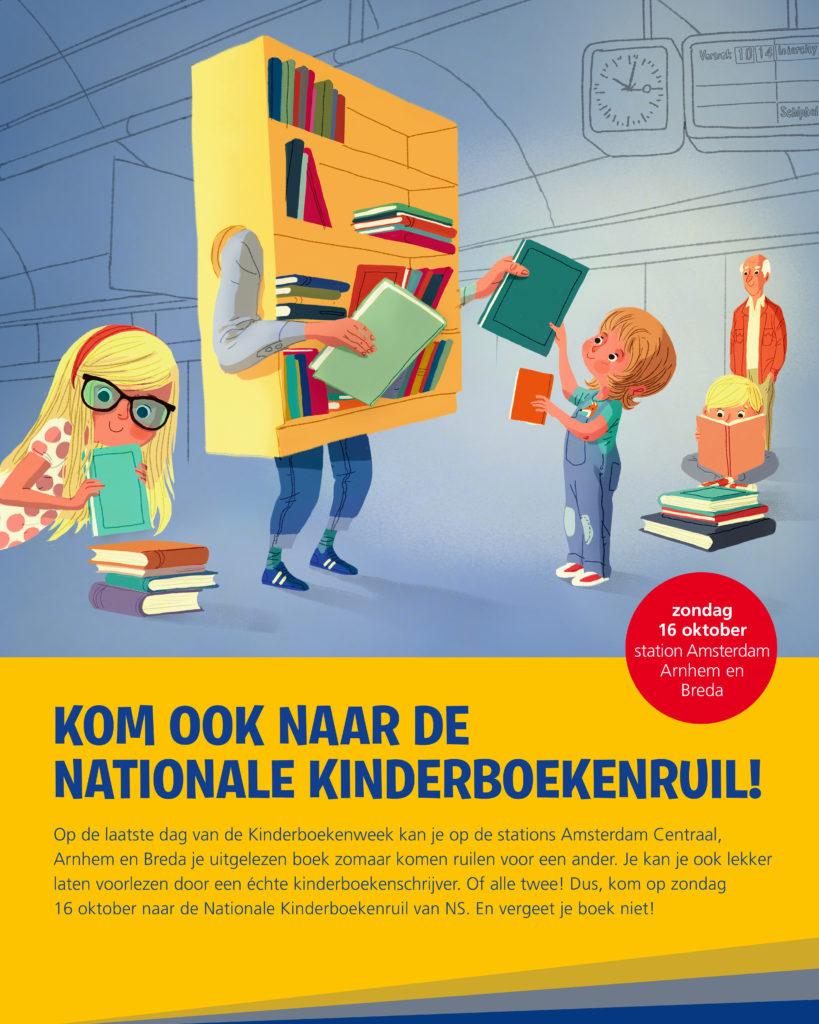 Gratis kinderboeken ruilen 16 oktober op 3 stations @ NS