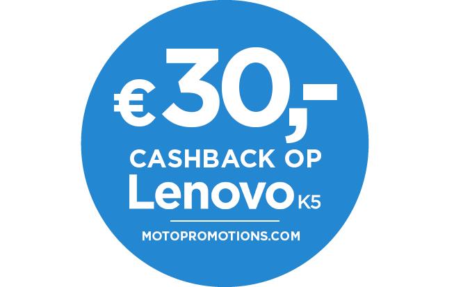 Cashback op de Lenovo K5 in NL + BE