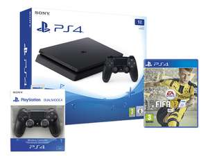 PS4 Slim console 1 TB zwart + FIFA 17 + extra DualShock 4-controller @ Dreamland