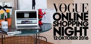 Vogue shopping night (12-10) - 15 - 40% korting bij 42 webshops