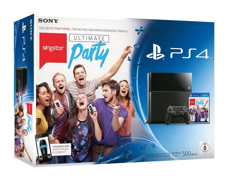 Playstation 4 + SingStar Ultimate Party + Call of Duty: Advanced Warfare - Day Zero Edition voor €399 @ Amazon.de