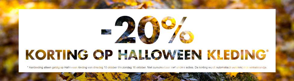 Halloweenkleding 20% korting @ Kiabi