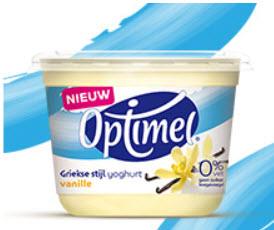 Probeer gratis Optimel Griekse stijl yoghurt vanille