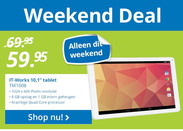 IT-Works tablet TM1008 10.1 inch voor €59,99 @ BCC