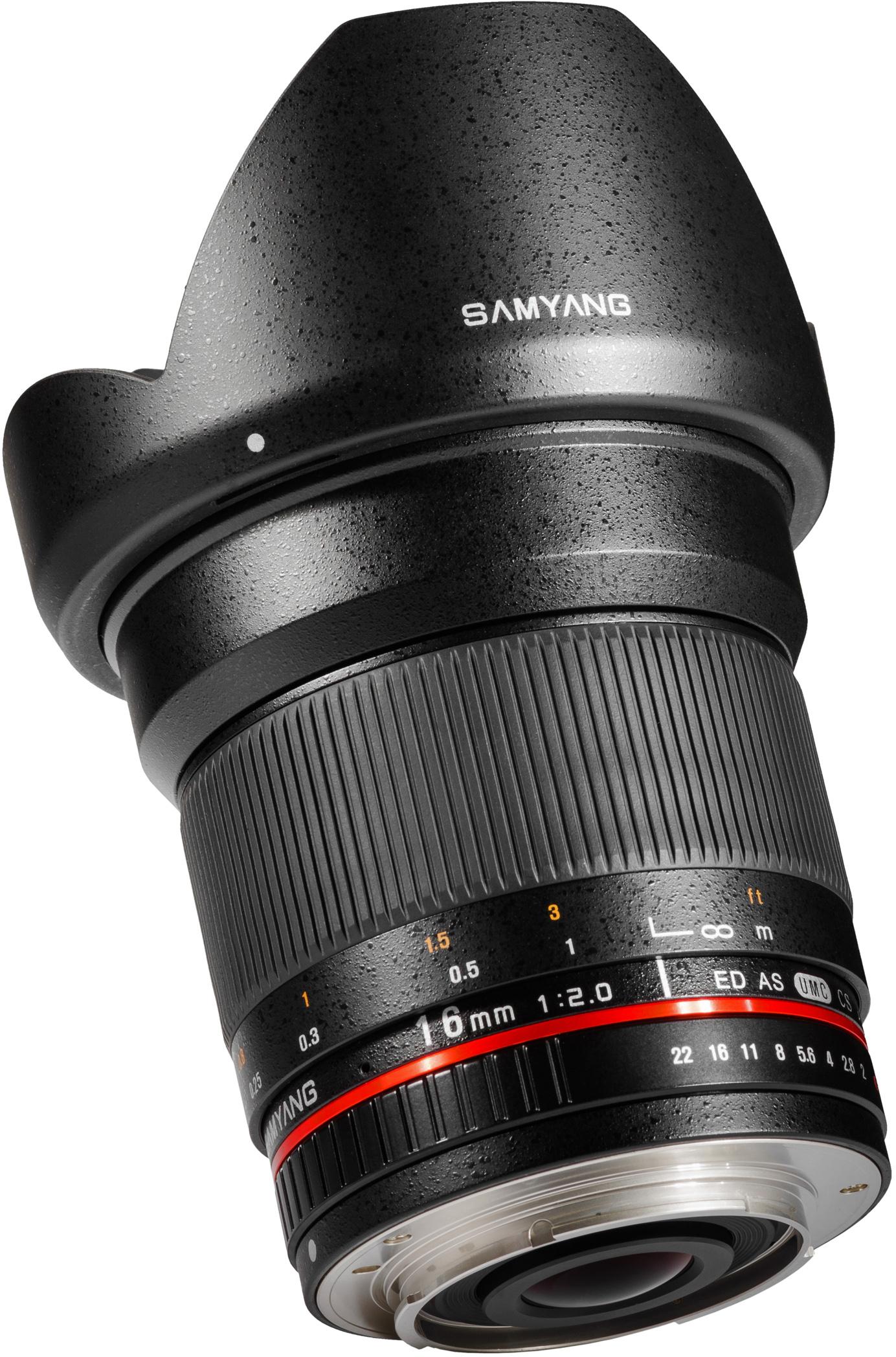 Samyang Optics 16mm f/2.0 Canon M objectief voor €249 @ Cameru.nu