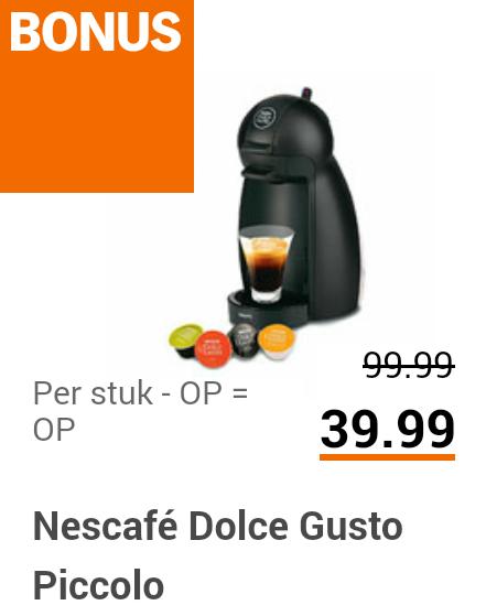 Krups Dolce Gusto Piccolo KP100B voor €39,99 @ Albert Heijn