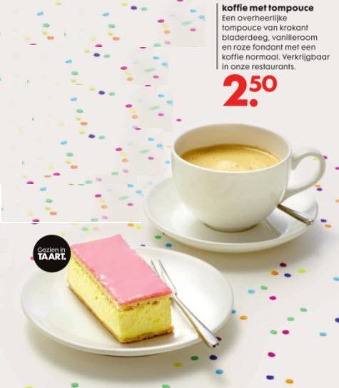 Koffie met tompouce voor slechts € 2,50 @ Hema