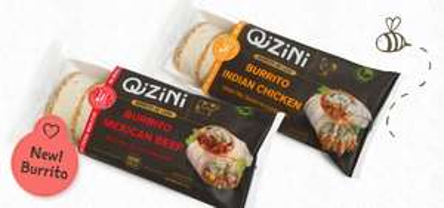 Probeer één QiZiNi Burrito Mexican Beef of Indian Chicken voor € 1,- @ Scoupy
