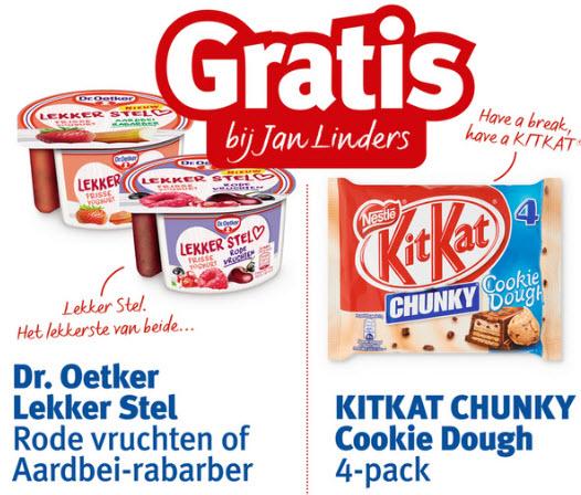 Cashback  Dr. Oetker Lekker stel en/of 4-pack Kitkat Chunky Cookies Doug @ Jan Linders