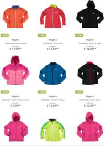Regatta outdoor jassen kids 60-80% korting @ Limango