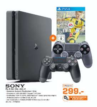 Playstation 4 Slim (1TB) + Fifa 17 + 2e controller voor €299 @ Saturn Duitsland (vanaf morgen)