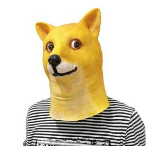 Internet Meme Doge Head Mask
