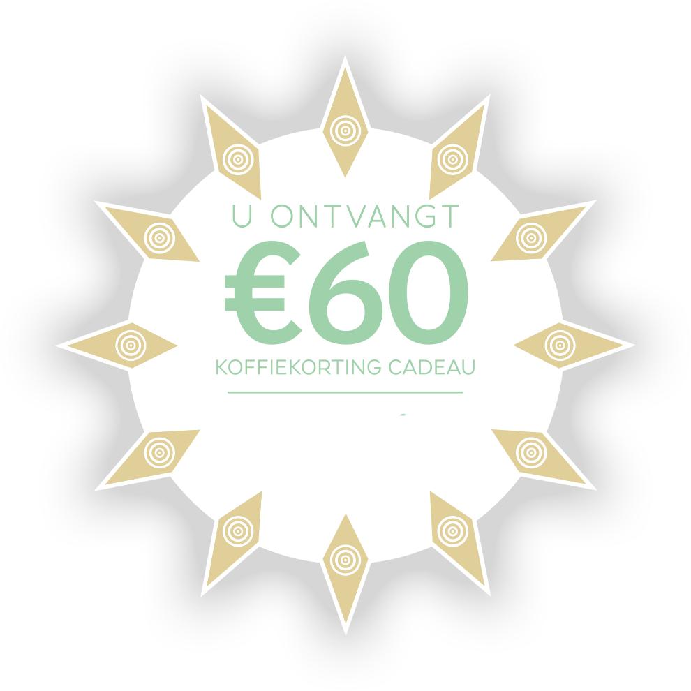 €30 of €60 koffiekorting bij een Nespresso apparaat