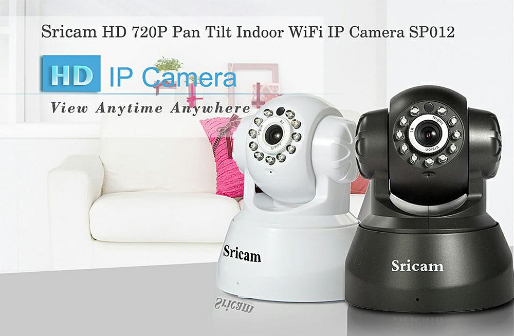 Sricam SP012 720P H.264 Wifi IP Camera Wireless ONVIF Security voor €19,97 @ Gearbest