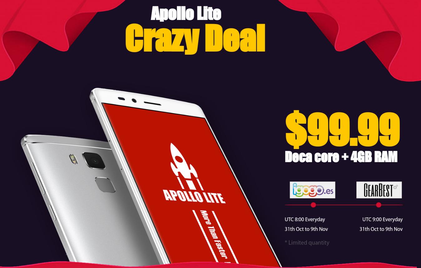 Crazy Deal: Vernee Apollo Lite 4G+ Phablet voor $99,99 vanaf 31 okt. @ Gearbest/Igogo
