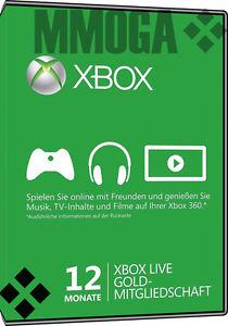 Microsoft Xbox Live Gold 12 Maanden Gift Card (code) voor €34,80 @ MMOGA eBay