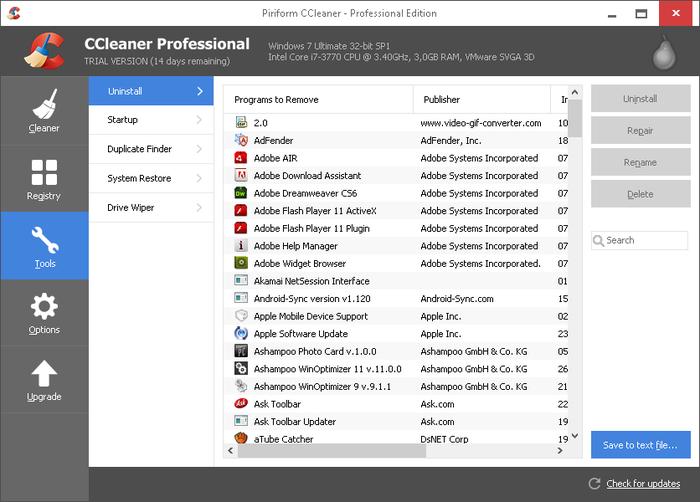 CCleaner Pro (PC / Mac) voor €10,95 i.p.v. €19,95