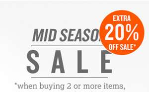 Op sale 20% extra korting @ America Today (min 2 items)