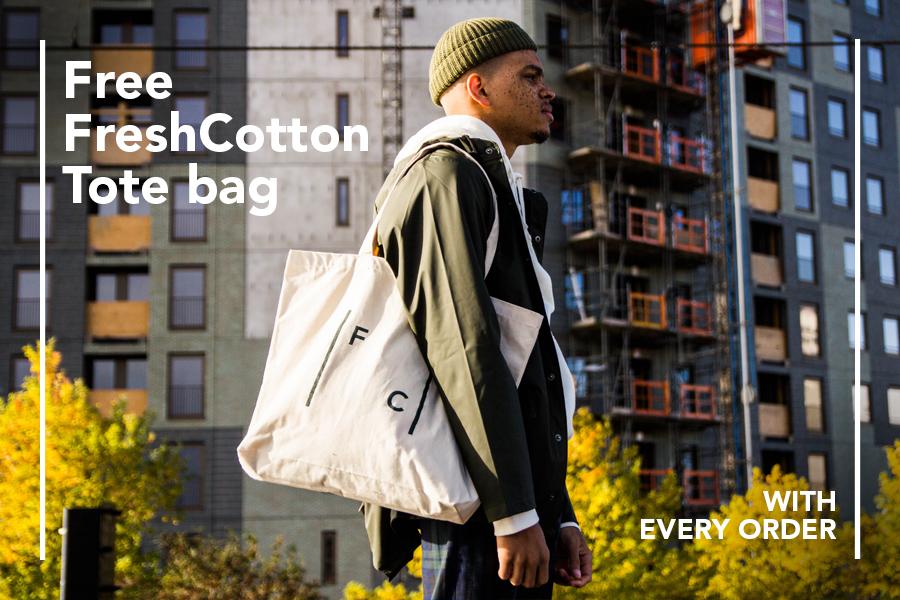Gratis Tote Bag bij elke aankoop @ Fresh Cotton