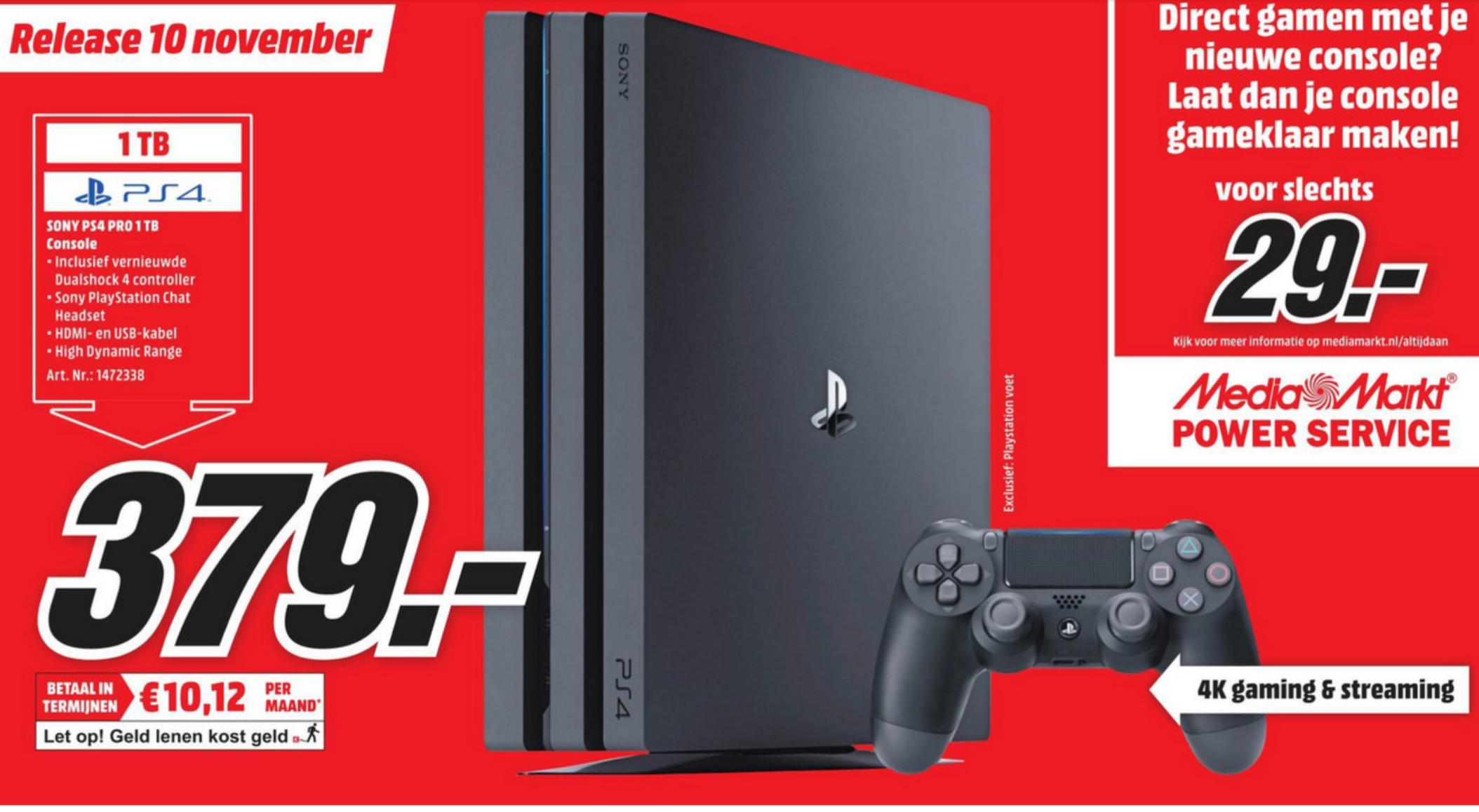 Sony PlayStation Pro 1TB - €379 [MediaMarkt/Wehkamp]