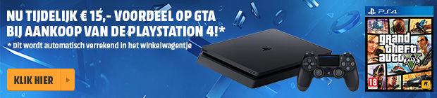 PS4 Pro 1TB + GTA V voor €406,99 (€15 korting op GTA V bij elke PS4 console) @ Media Markt