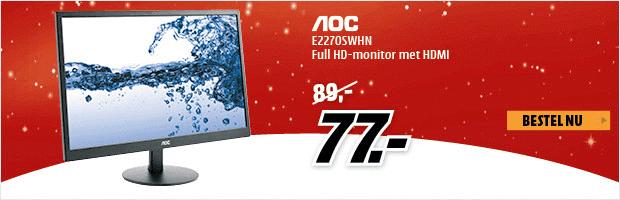 AOC E2270SWHN FULL HD monitor voor €77 @ Mediamarkt