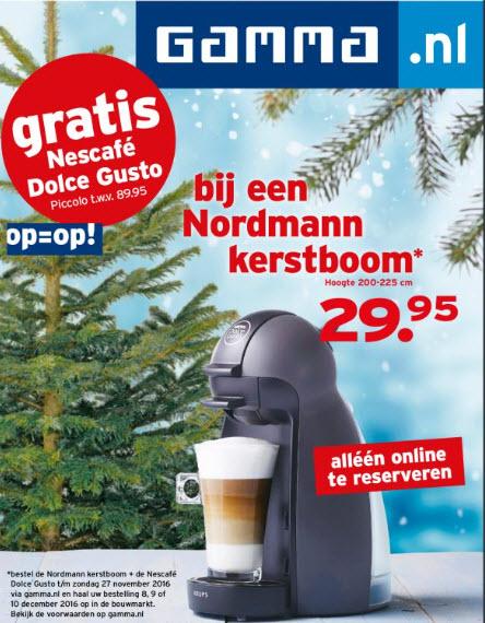 Gratis Nescafé Dolce Gusto bij aankoop kerstboom* @ Gamma.nl