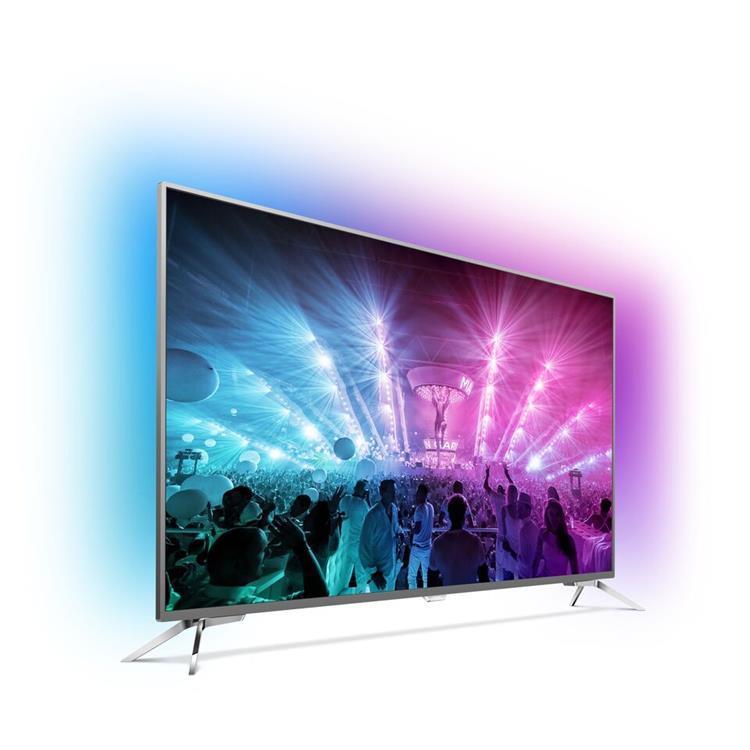 Philips 49 inch Ultraslanke 4K-TV met 3-zijdig Ambilight (49PUS7101/12)