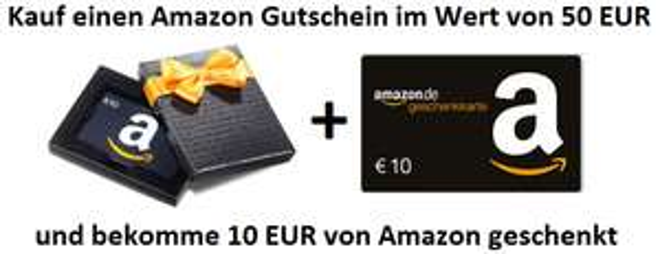 Gratis Amazon.de cadeaubon van €10 als je een cadaubon koopt van €50 @ Amazon.de
