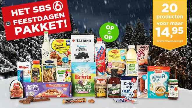 Feestdagen Pakket 20 producten 14,95 Gratis bezorging!