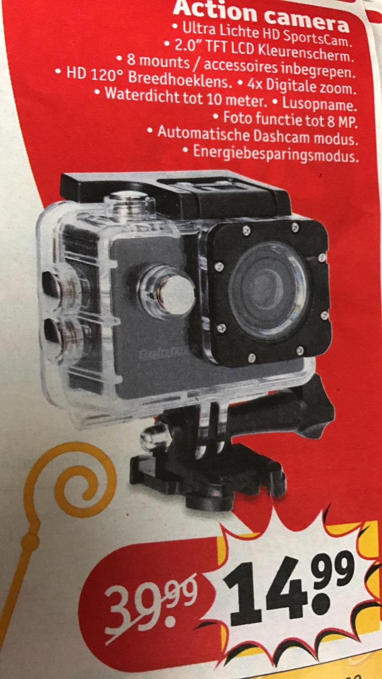[UPDATE] Quintezz - Waterdichte FULL HD Action Camera 8MP voor €14.99 @Kruidvat.nl ook online
