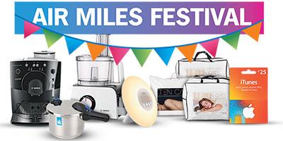 Air miles Festival bij Albert Heijn