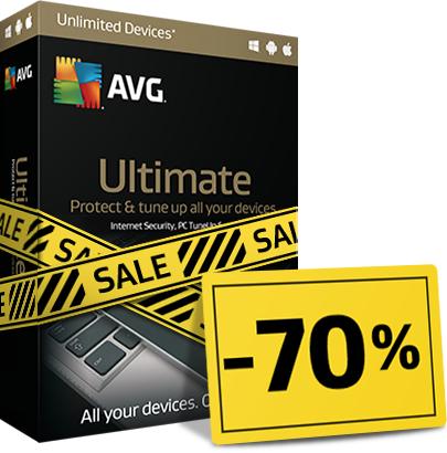 70% korting op AVG Ultimate