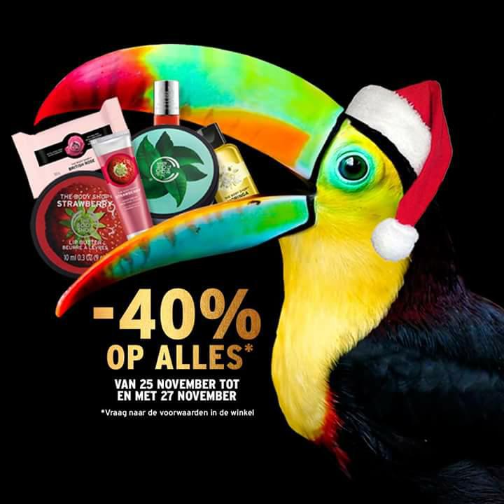The Body Shop 40% korting [Black Friday]