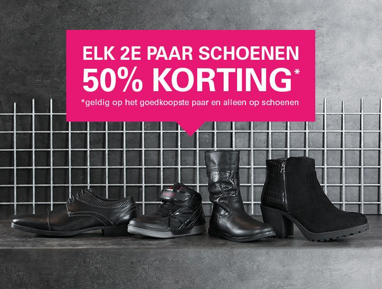 Elk 2de paar = -50% korting @ schuurman-schoenen