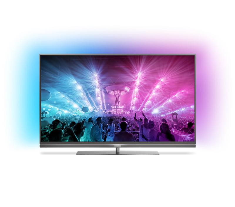 "Philips 49PUS7181 49"" UHD TV  Zilver 3-Ambilight @ Hofma.nl"