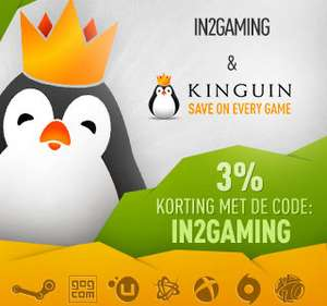 3% korting bij www.kinguin.net (Digitale Game Codes)