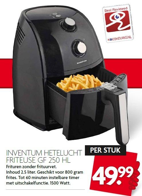Inventum GF250HL heteluchtfriteuse voor €49,99 @ Dirk