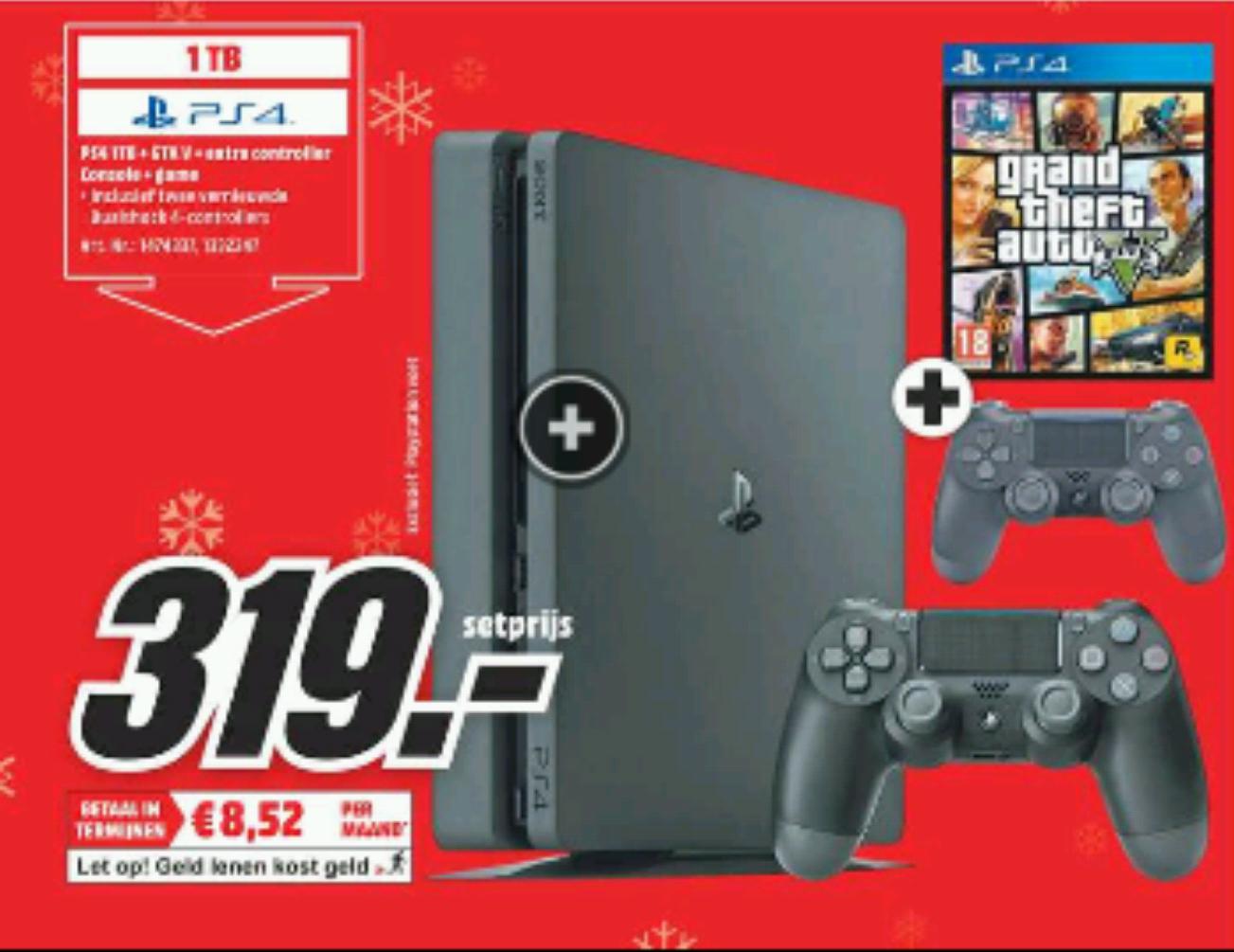 PlayStation 4 1tb + extra controller en GTA 5 @ Mediamarkt
