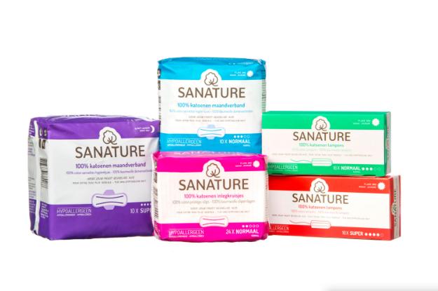 Gratis sample Sanature inlegkruisjes, maandverband en tampons