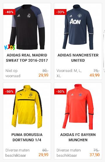 Sale! bij Voetbalshop.nl