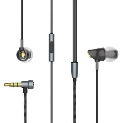 Rock Zircon Nano Headphone   -  BLACK @ Gearbest.com