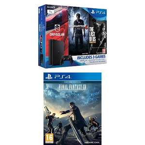 Sony PlayStation 4 1TB Gamer Pack Bundle (Uncharted 4, The Last of Us, DriveClub) + Final Fantasy XV day one edition @ Amazon.co.uk