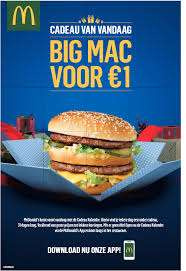19 december Big Mac 1 euro