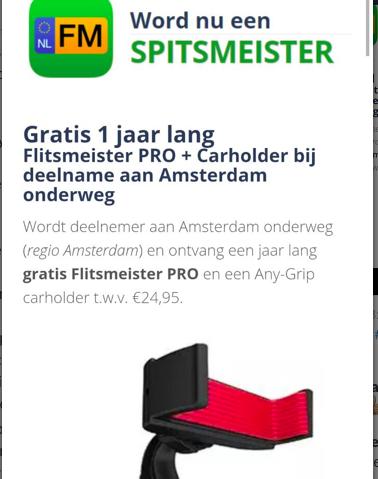 [UPDATE] Gratis 1 jaar lang Flitsmeister PRO + gratis smartphonehouder