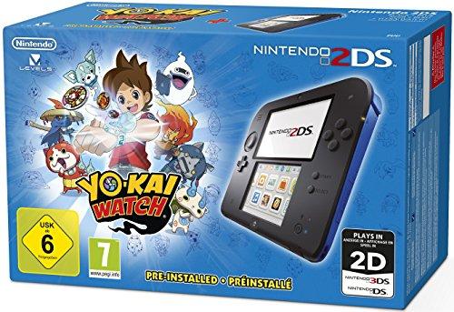 Nintendo 2DS Console zwart/blauw + Yokai Watch voor €71,31 @ Amazon.de
