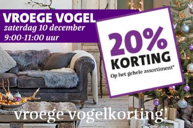 20% korting op alles* op zaterdag 10 December, bij 5 vestigingen @ Intratuin