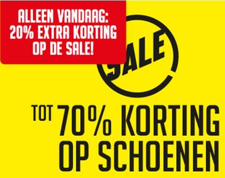 Op alle SALE schoenen / slippers / boots etc 20% extra korting @ Aktiesport