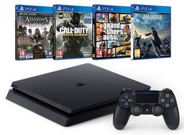 PlayStation 4 Slim (500GB) met vier games @ Amazon.fr
