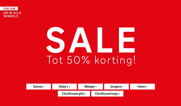 SALE (tot -50%) + gratis verzending + €10 extra korting (va €40) @ C&A
